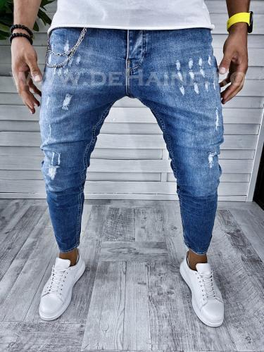 Blugi barbati conici B2385 G6-4 - Pantaloni barbati - Blugi barbati
