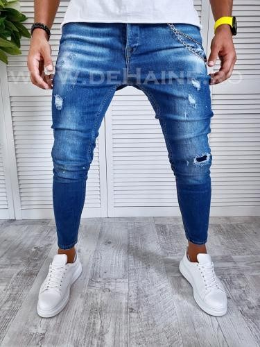 Blugi barbati conici B2493 B12-4 - Pantaloni barbati - Blugi barbati