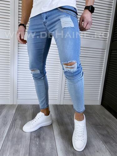 Blugi barbati conici bleu 120 H4-2* - Pantaloni barbati - Blugi barbati