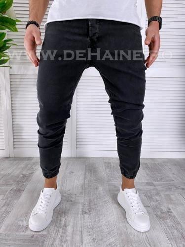 Blugi barbati conici negri 1020 H6-5* - Pantaloni barbati - Blugi barbati