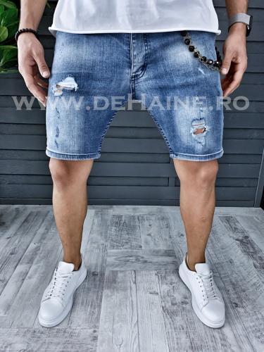 Blugi barbati scurti conici B1234 B13-4 - Pantaloni barbati - Blugi scurti