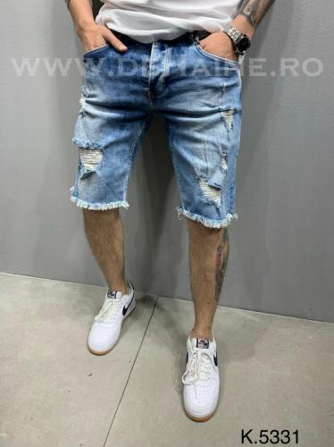 Blugi barbati scurti conici ZR B2377 B13-4 - Pantaloni barbati - Blugi scurti