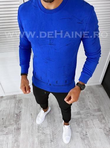 Bluza barbati albastra slim fit 2599 O1-53 - Bluze barbatesti -