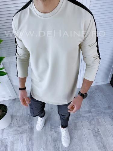 Bluza barbati bej slim fit B3616 O2-5-1 - Bluze barbatesti -