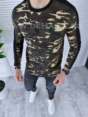Bluza barbati camuflaj slim fit B3604 86-12 - Bluze barbatesti -