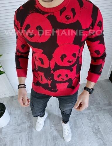 Bluza barbati rosie slim fit K01 6-5 - Bluze barbatesti -