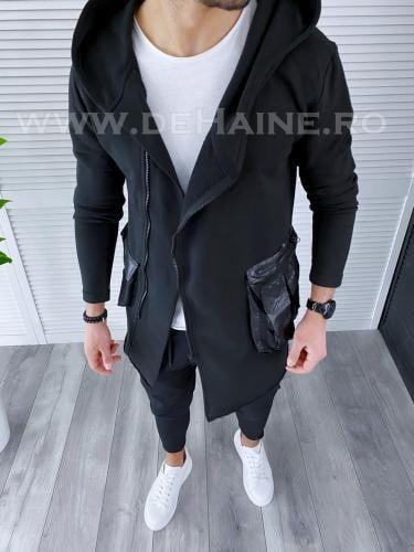 Cardigan barbati negru slim fit 2952 20-4 - Imbracaminte barbati - Cardigan
