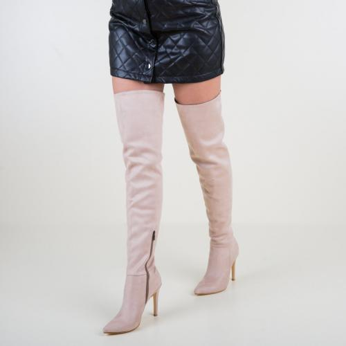 Cizme Haiba Bej - Cizme dama - Cizme peste genunchi