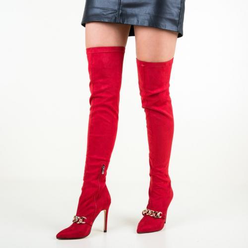 Cizme Katen Rosii - Cizme dama - Cizme peste genunchi