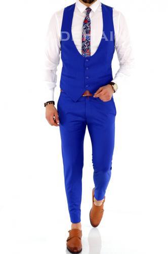 Compleu barbati Vesta + Pantaloni A1396 Y - Costume barbatesti -