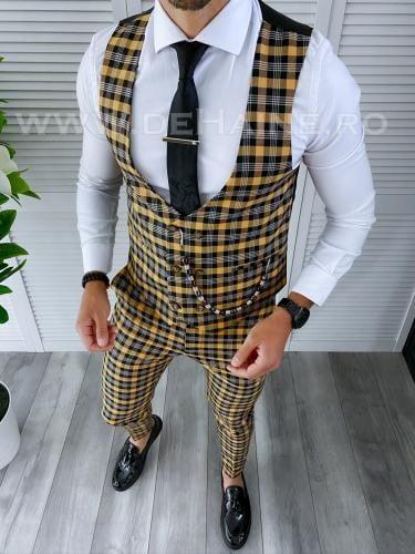 Compleu barbati Vesta + Pantaloni A4275 46-3 - Costume barbatesti -