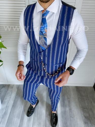 Compleu barbati Vesta + Pantaloni A8749 - Costume barbatesti -
