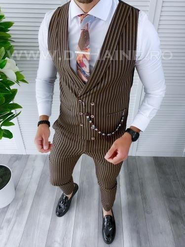 Compleu barbati Vesta + Pantaloni B1116 - Costume barbatesti -
