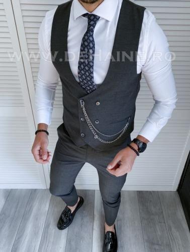 Compleu barbati Vesta + Pantaloni B4007 X13-3 - Costume barbatesti -