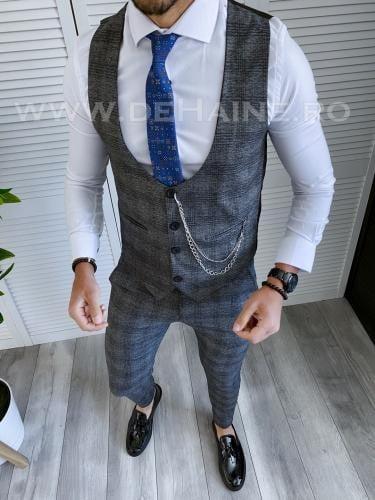 Compleu barbati Vesta + Pantaloni B4024 46-1 - Costume barbatesti -