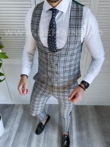 Compleu barbati Vesta + Pantaloni B4030 - Costume barbatesti -