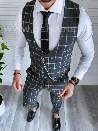 Compleu barbati Vesta + Pantaloni B4053 P18-3 - Costume barbatesti -