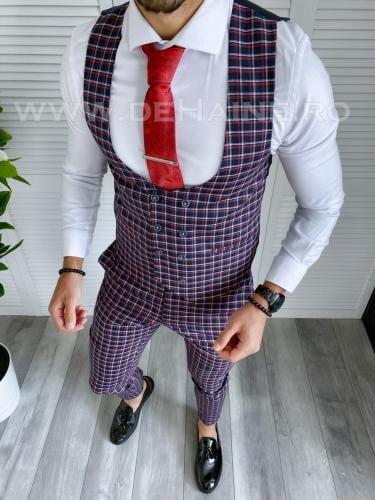 Compleu barbati Vesta + Pantaloni B4059 P19-4 - Costume barbatesti -