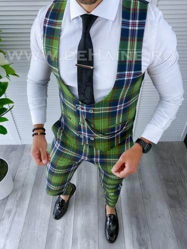 Compleu barbati Vesta + Pantaloni B4100 44-2 - Costume barbatesti -