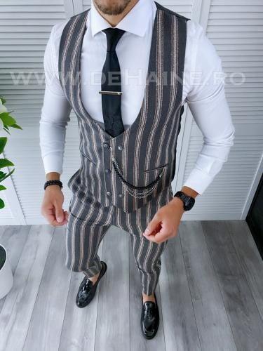 Compleu barbati Vesta + Pantaloni B4104 - Costume barbatesti -