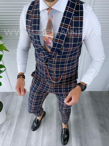 Compleu barbati Vesta + Pantaloni B4125 P18-5 - Costume barbatesti -
