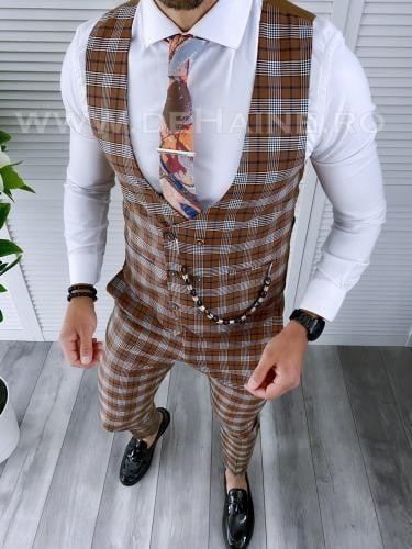 Compleu barbati Vesta + Pantaloni B4126 - Costume barbatesti -
