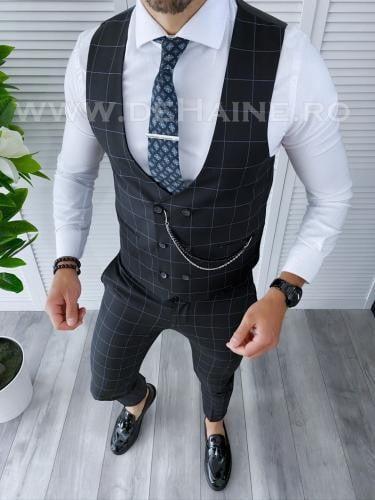 Compleu barbati Vesta + Pantaloni B4140 45-3 - Costume barbatesti -