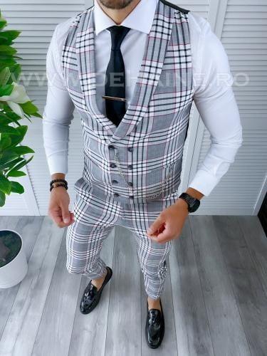 Compleu barbati Vesta + Pantaloni B4145 P18-6 - Costume barbatesti -