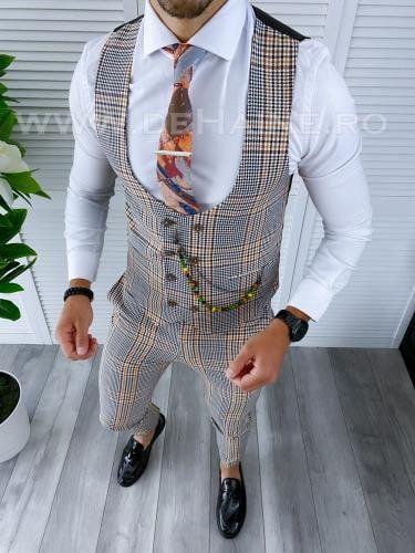 Compleu barbati Vesta + Pantaloni B4153 - Costume barbatesti -