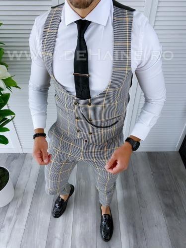 Compleu barbati Vesta + Pantaloni B4155 - Costume barbatesti -