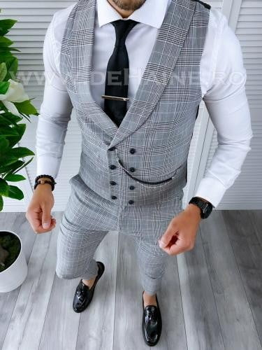 Compleu barbati Vesta + Pantaloni B4170 44-4 - Costume barbatesti -