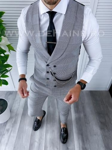 Compleu barbati Vesta + Pantaloni B4176 - Costume barbatesti -