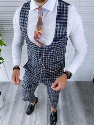 Compleu barbati Vesta + Pantaloni B4177 P18-1 - Costume barbatesti -