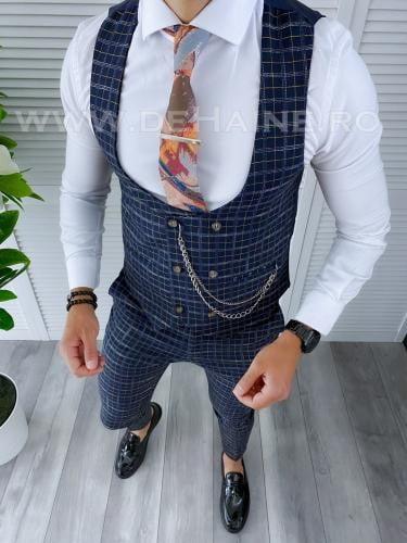 Compleu barbati Vesta + Pantaloni B4186 42-1 - Costume barbatesti -