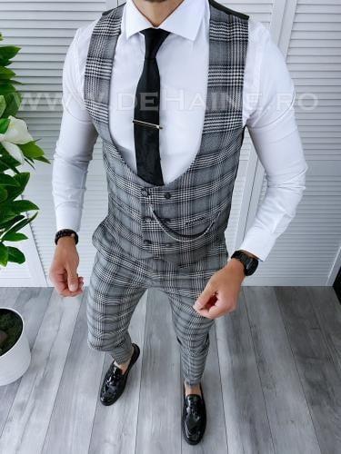 Compleu barbati Vesta + Pantaloni B4188 P19-6 - Costume barbatesti -