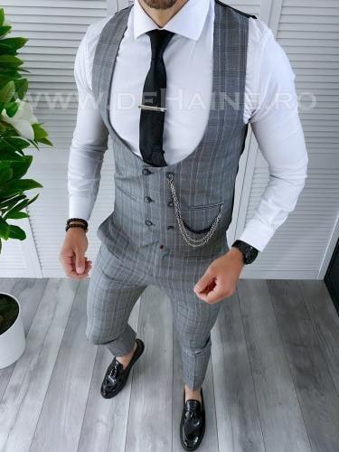 Compleu barbati Vesta + Pantaloni B4190 - Costume barbatesti -