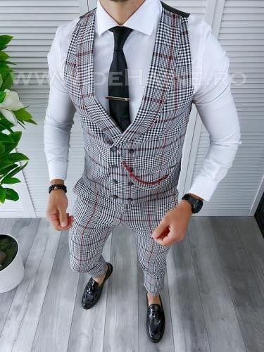 Compleu barbati Vesta + Pantaloni B4195 P19-5 - Costume barbatesti -