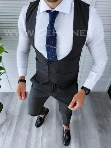Compleu barbati Vesta + Pantaloni B4201 - Costume barbatesti -