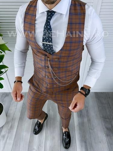 Compleu barbati Vesta + Pantaloni B4207 - Costume barbatesti -