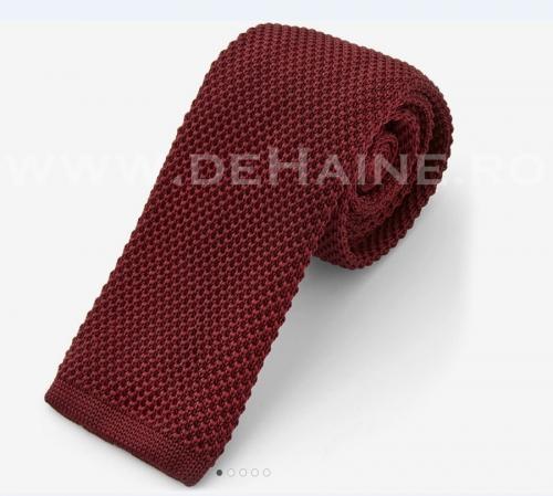 Cravata tricotata grena B2470 - Cadouri barbati -  Cravate