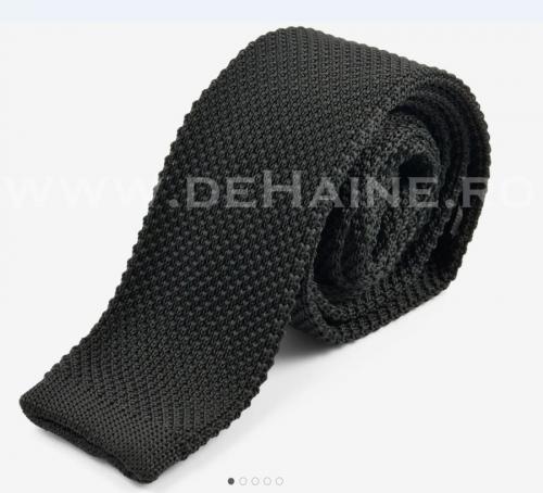 Cravata tricotata neagra B2470 - Cadouri barbati -  Cravate