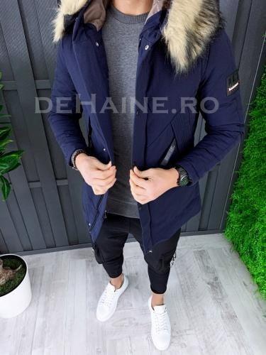 Geaca barbati groasa de iarna bleumarin ZR A8071 D1-2 - Geci pentru barbati -