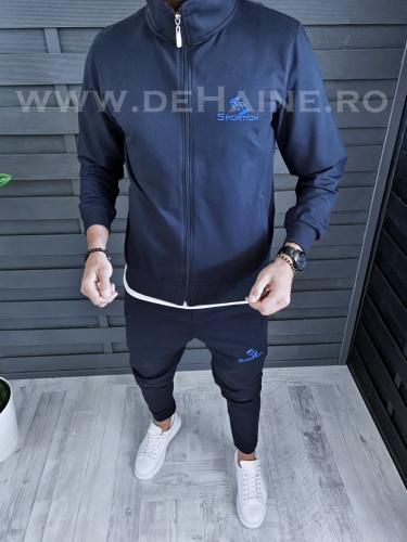 Hanorac barbati bleumarin slim fit B3853 O2-43 - Hanorace -