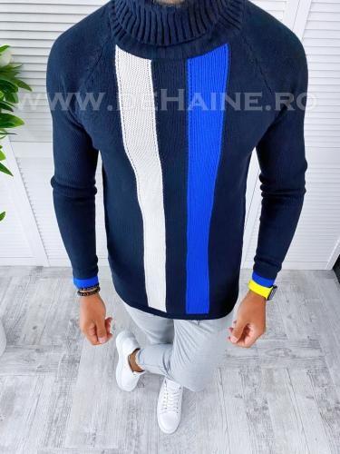 Helanca barbati slim fit bleumarin T3581 O1-52 - Helanca barbati -