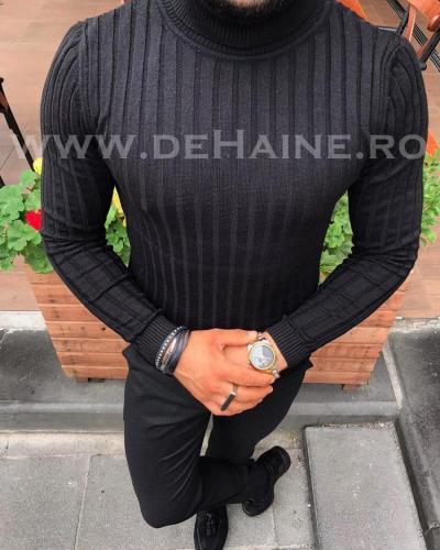 Helanca barbati slim fit neagra B2739 M3* - Helanca barbati -