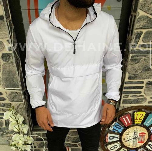 Jacheta barbati de primavara alba din fas subtire B3344 O4-1 - Geci pentru barbati -
