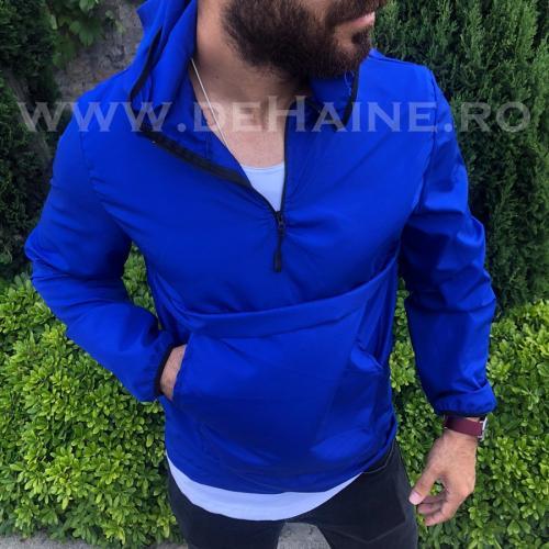 Jacheta barbati de primavara albastra din fas subtire B2370 O4-1 - Geci pentru barbati -