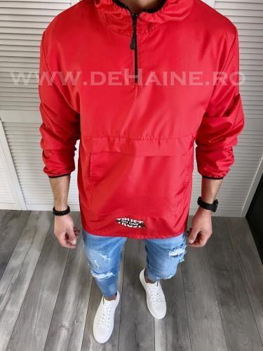 Jacheta barbati de primavara rosie din fas subtire B3722 O2-12 - Geci pentru barbati -