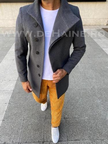 Palton barbati gri B3072 S38-39* - Imbracaminte barbati - Paltoane