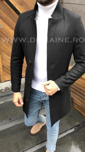 Palton barbati GRI inchis B3075 S40-41 - Imbracaminte barbati - Paltoane